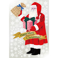 巨大ウィンドウシール1100mm×1600mm 両面印刷 クリスマス サンタ・プレゼント (6895)