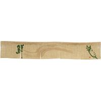 【新商品】エステル麻のれん だいこん 5巾ショート (68973)