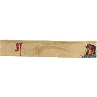 【新商品】エステル麻のれん 魚 赤 5巾ショート (68978)