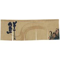 【新商品】エステル麻のれん いか 5巾 (69215)