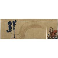 【新商品】エステル麻のれん たこ 5巾 (69216)