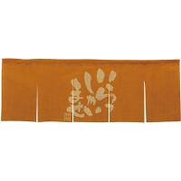 【新商品】エステル麻のれん いらっしゃい 橙 5巾 (69231)