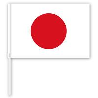 手旗 日の丸 日本国旗 持ち手付 幅450mm
