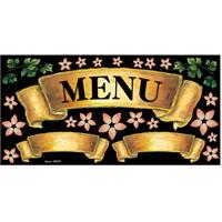 リボン MENU ゴールド ボード用イラストシール (69670)