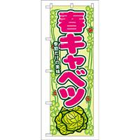のぼり旗 表示:春キャベツ (7871)