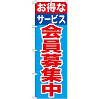 のぼり旗 会員募集中 お得なサービス (GNB-1117)