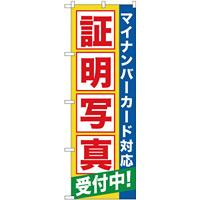 のぼり旗 証明写真受付中(マイナンバー) (GNB-2751)