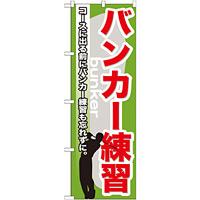 のぼり旗 バンカー練習 (GNB-538)