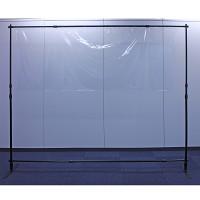 最大2m幅 上下左右伸縮式大型ワイドプロテクトバナー(半透明ビニール仕様)