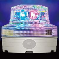 カラフル発光 電池式LED回転灯 ニコUFOスター Φ88 (VL09B-004U)
