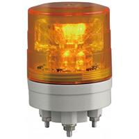 超小型LED回転灯 ニコミニ・スリム Φ45 黄 規格:3点留 (VL04S-024AY)