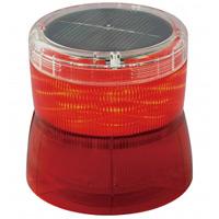 ソーラーLED回転灯 ニコソーラー 105Φ 赤 電池:バッテリー 規格:2点留 (VM10S-BR)