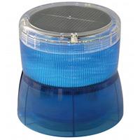 ソーラーLED回転灯 ニコソーラー 105Φ 青 電池:バッテリー 規格:2点留 (VM10S-BB)
