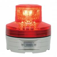 電池式LED回転灯 ニコUFO Φ76 赤 点灯方式:手動 (VL07B-003AR)