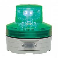 電池式LED回転灯 ニコUFO Φ76 緑 点灯方式:手動 (VL07B-003AG)