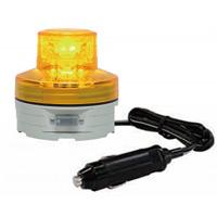 シガープラグ式LED回転灯 ニコUFO Φ76 黄 DC:12V/24V兼用 (VL07B-003AY/CP)