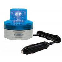 シガープラグ式LED回転灯 ニコUFO Φ76 青 DC:12V/24V兼用 (VL07B-003AB/CP)