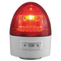 電池式LED回転灯 ニコカプセル Φ118 赤 点灯方式:手動 (VL11B-003AR)