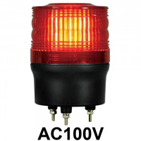 LED回転灯 ニコトーチ Φ90 AC100V 赤 規格:3点留 機能:回転 (入力制御無し) (VL09R-100NR)