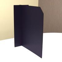5枚入 飛沫感染対策仕切りパーテーション スチレンボード製 ミラボードSP 十字組立型 黒+市松模様