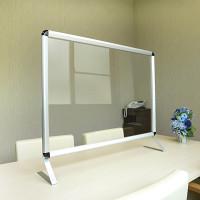 ポスターフレーム型 飛沫感染防止板 Poster Grip バリアスタンド ブラックコーナー W600サイズ (PG-BarrierStand(B)-W600)