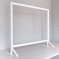 3段高さ調節機能付 飛沫感染防止 アクリル板 PGバリアスタンド プラス ホワイト W600