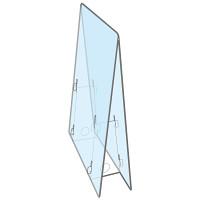 飛沫防止 PET製 透明パーテーション 小 0.5mm厚 (051075)