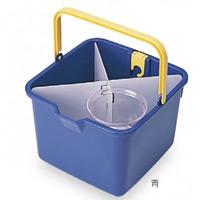 清掃用品 仕切付きバケツ カラー:青 (CE-447-000-0)