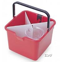 清掃用品 仕切付きバケツ カラー:エンジ (CE-447-000-6)