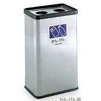 屋内用ステンレス製ゴミ箱 分別ステンエルボックス 規格:かん・びん用 (DS-213-220-0)