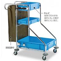 清掃用メンテナンスカート ビルメンカートF (DS-571-070-0)