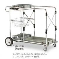 清掃用メンテナンスカート ビルメンカートP (DS-571-420-0)