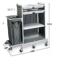 清掃用カートハウスキーパー SKT-1 中型 (DS-572-120-0)
