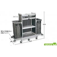 清掃用カートハウスキーパー SKT-2 大型 (DS-572-130-0)