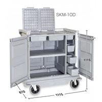 清掃用カート樹脂ハウスキーパー SKM-10D  (DS-572-210-0)