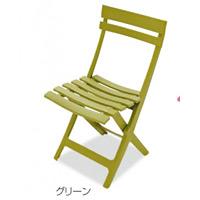 樹脂製 マイアミフォールディングチェア カラー:グリーン (MZ-594-100-1)