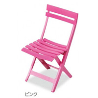 樹脂製 マイアミフォールディングチェア カラー:ピンク (MZ-594-100-6)
