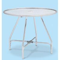 アルミ製 ガーデンアルミテーブル (組立式) サイズ:φ750mm (MZ-610-010-0)