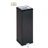 灰皿 屋内用 消煙灰皿 約3L カラー:黒 (SS-255-000-6)