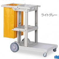 清掃用メンテナンスカート ビルメンカートL カラー:ブルー (DS-571-810-3)