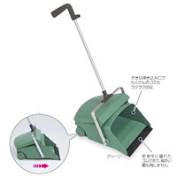 清掃用品 デカチリトリ1本柄 カラー:グリーン (DP-462-100-1)