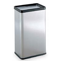 屋内用ステンレス製ゴミ箱 ステンエルボックス (ステンフタ) 規格:中缶なし (DS-213-130-0)