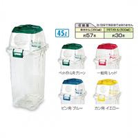 樹脂製ゴミ箱 透明エコダスター#45 45L用 規格:ペットボトル用 (DS-459-045-1)