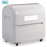 集積保管用ゴミ箱 ワイドペール500 (カギ穴付) 仕様:キャスター付 (DS-221-050-5)