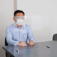 カウンター仕切板 透明 W600×H500