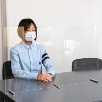 カウンター仕切板 透明 W900×H500