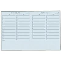 スチールホワイトボード Nシリーズ (壁掛) 2ヶ月予定 NV23YY 板面寸法 W900×H600 5枚セット (NV23YY)