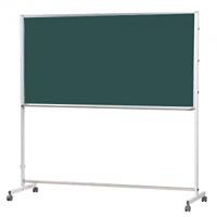 スチールグリーン黒板/ホワイトボード Pシリーズ (脚付) 両面 板面外寸:1800× 915 (PTSH306)