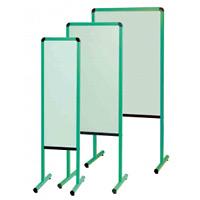 カラフル案内板 両面スチールカラーボード グリーン サイズ:W330 (YAE300GG)