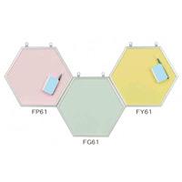 スチールカラーボード 六角ボード カラー:ピンク (FP61)